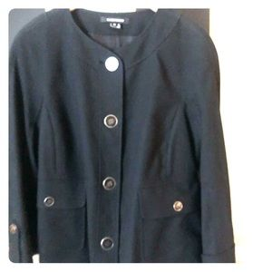 Ellen Tracy Luxury Button Front Jacket blazer M